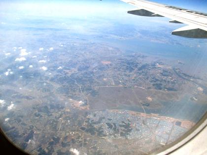 (CA162便)韓国上空.JPG